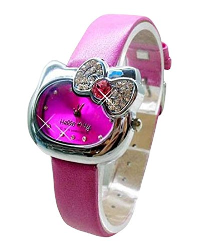 New Lovely Fashion Hello Kitty watches Girls Uhren M dchen Ladies Wrist Watch WKT KTWHK5M