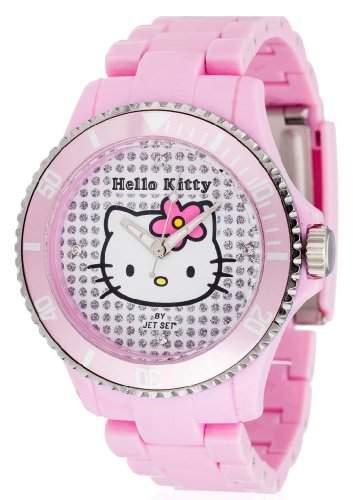 Hello Kitty Maedchen-Armbanduhr Nichinan Pink Analog Quarz Plastik HK1464-045
