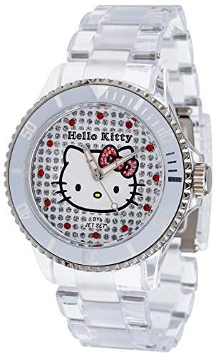 Hello Kitty Maedchen-Armbanduhr Nichinan Transparant Analog Quarz Plastik HK1464-040