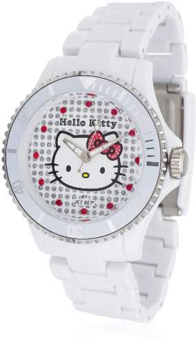 Hello Kitty Maedchen-Armbanduhr Nichinan White Analog Quarz Plastik HK1464-041