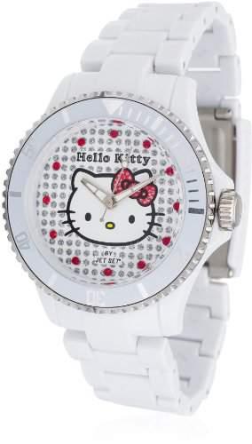 Hello Kitty Maedchen-Armbanduhr Nichinan White Analog Quarz Plastik HK1464-041