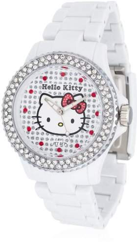 Hello Kitty Maedchen-Armbanduhr Nichinan White Stones Analog Quarz Plastik HK146S-041