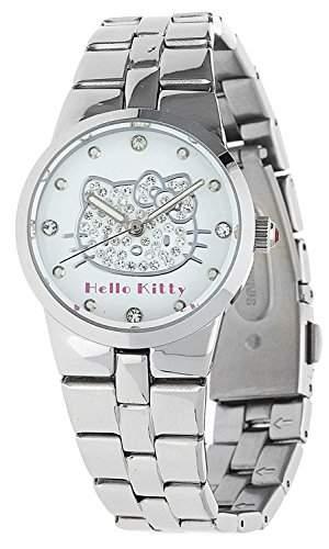 Hello Kitty Maedchen Armbanduhr Ontake silber NLHK10031