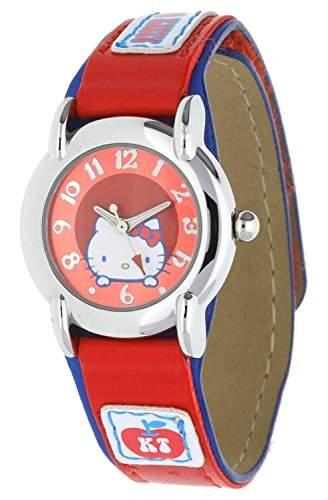 Hello Kitty Maedchen Armbanduhr rot NLHK50012