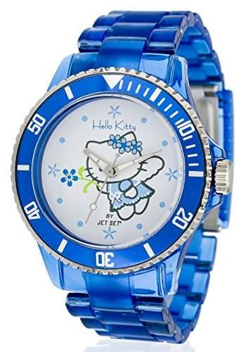 Hello Kitty Maedchen-Armbanduhr Obi Blue Analog Quarz Plastik JHK1004-19