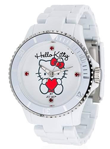 Hello Kitty Maedchen-Armbanduhr Obi White Analog Quarz Plastik JHK1004-18