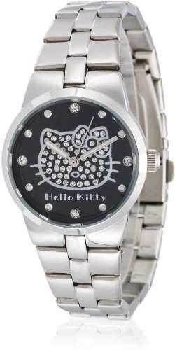 Hello Kitty Maedchen-Armbanduhr Ontake Black Metal Analog Quarz Alloy HK6704-242