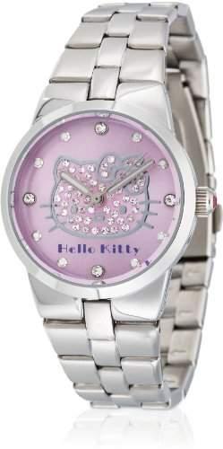 Hello Kitty Maedchen-Armbanduhr Ontake Pink Metal Analog Quarz Alloy HK6704-542