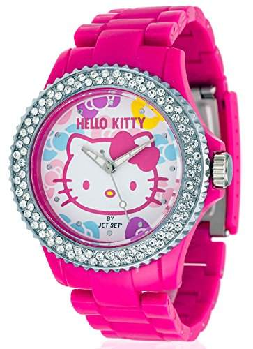 Hello Kitty Maedchen-Armbanduhr Uto Pink Red Analog Quarz Plastik JHK9904-22
