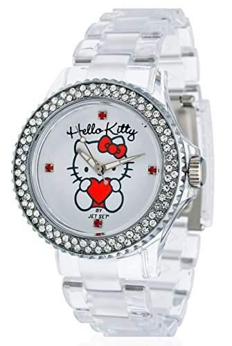 Hello Kitty Maedchen-Armbanduhr Uto Transparent Analog Quarz Plastik JHK9904-17