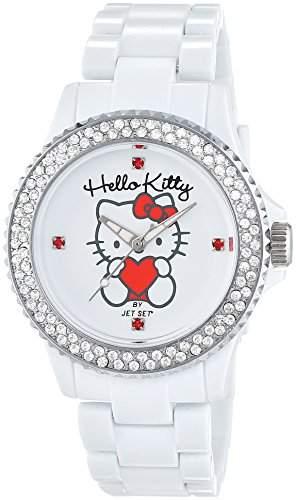 Hello Kitty Maedchen-Armbanduhr Uto White Analog Quarz Plastik JHK9904-18
