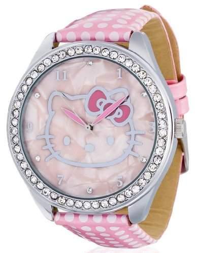 Hello Kitty Damen-Armbanduhr Yae Pink Analog Quarz Kunstleder HK480S-565