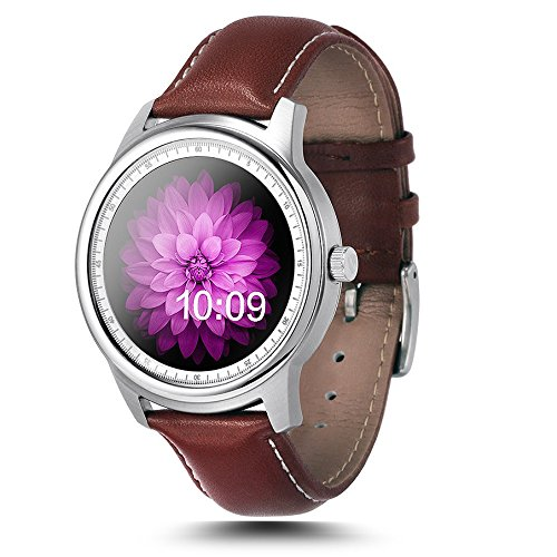 Leopard Shop LEMFO LME1 MTK2502 Bluetooth Uhr Schlaf Monitor Schrittzaehler Silber Schwarz