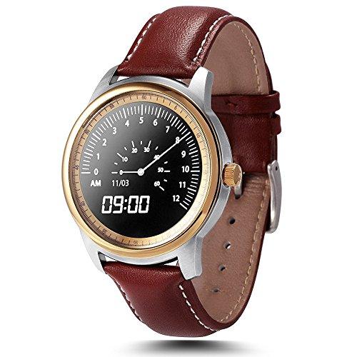 Leopard Shop lemfo lme1 mtk2502 Bluetooth Uhr Sleep Monitor Schrittzaehler Golden