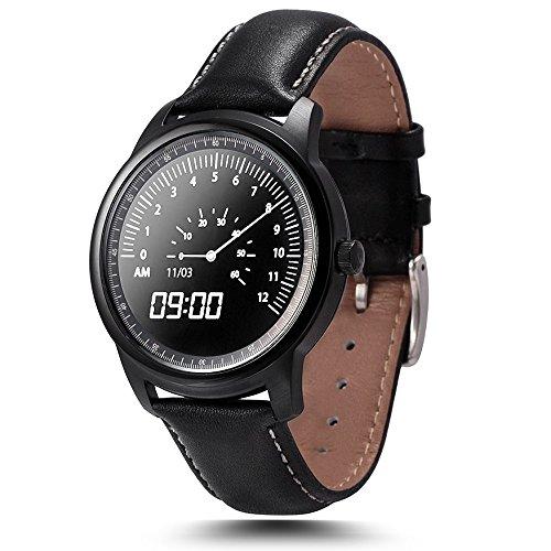 Leopard Shop lemfo lme1 mtk2502 Bluetooth Uhr Sleep Monitor Schrittzaehler Schwarz