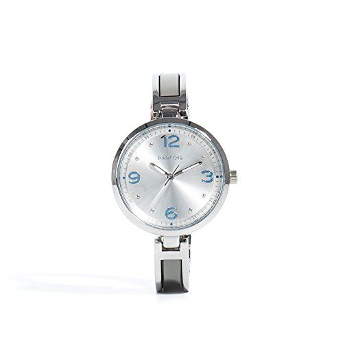 Parfois Uhren Runde Uhren Metall Silber Damen Groesse M Silber Multicolor