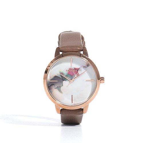 Parfois Uhren Runde Uhren Pvc Braun Damen Groesse M Braun Multicolor