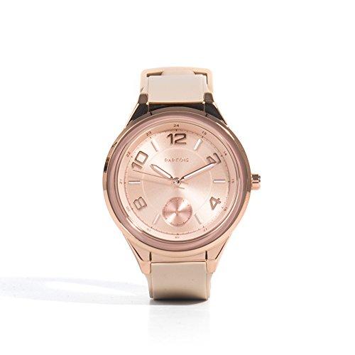 Parfois Uhren Runde Uhren Kunststoffe Beige Damen Groesse M Beige