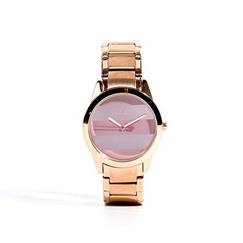 Parfois Uhren Runde Uhren Metall Gold Rosa Damen Groesse M Gold Rosa Multicolor