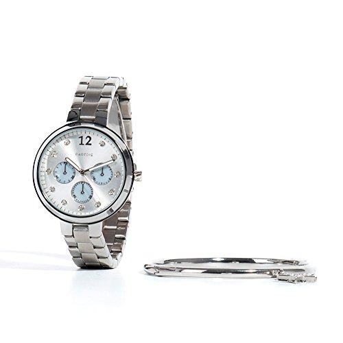 Parfois Uhren Runde Uhren Metall Silber Damen Groesse M Silber