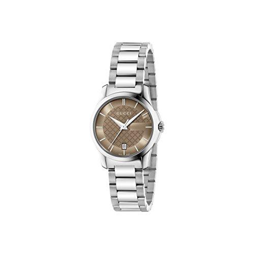 Gucci Damen Armbanduhr G Timeless Analog Quarz Edelstahl beschichtet YA126526