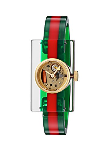 Gucci Damen Armbanduhr WEB Watch Analog Quarz Plastik YA143501