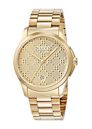 Gucci Unisex Armbanduhr G TIMELESS Analog Quarz Edelstahl beschichtet YA126461