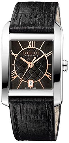 Gucci Unisex Armbanduhr HANDMASTER Analog Automatik Leder YA135501