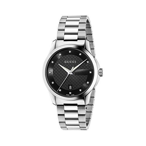 Gucci Unisex Armbanduhr G Timeless Analog Quarz Edelstahl YA126456