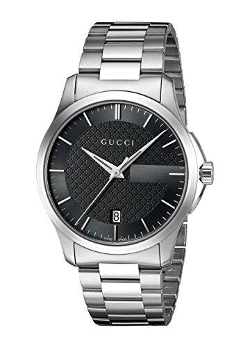 Gucci Unisex Armbanduhr G Timeless Analog Quarz Edelstahl YA126457