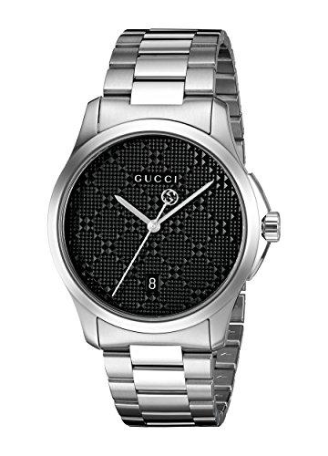 Gucci Unisex Armbanduhr G TIMELESS Analog Quarz Edelstahl YA126460