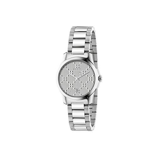 Gucci Unisex Armbanduhr G Timeless Analog Quarz Edelstahl YA126551