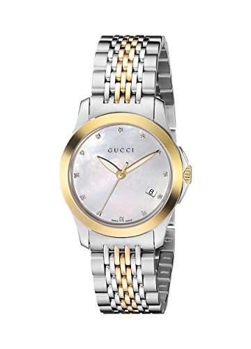 Gucci Damen-Armbanduhr G TIMELESS Analog Quarz Edelstahl YA126513