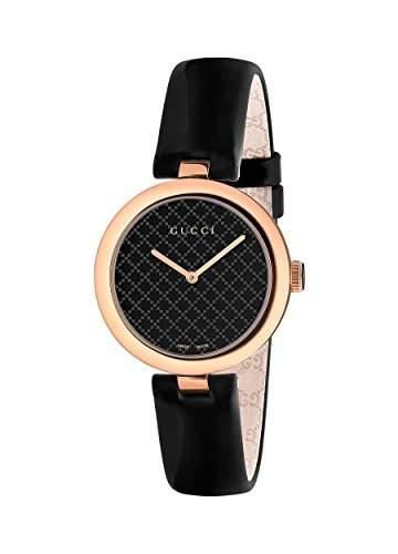 Gucci Damen-Armbanduhr DIAMANTISSIMA Analog Quarz Edelstahl YA141401