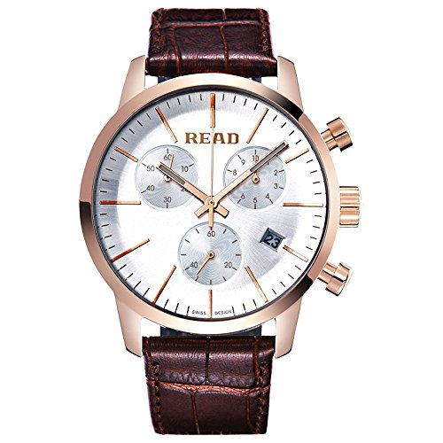 Lesen 2016 Fashion Herren Armbanduhr Quarz Sport wasserabweisend Handgelenk Uhren Multi Funktion Uhren r7080