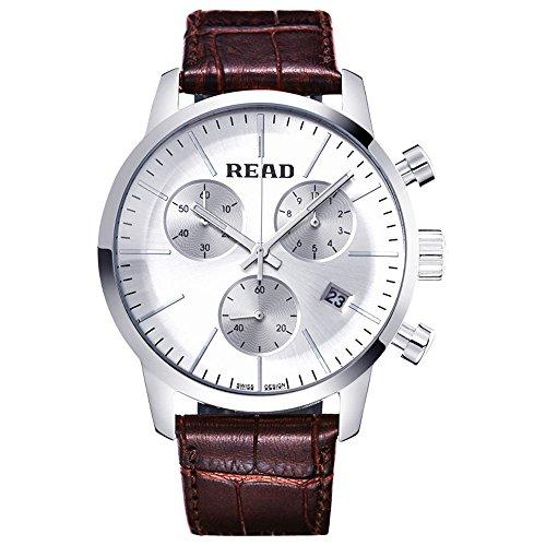 Lesen Fashion Quarz Sport wasserabweisend Armbanduhr Multi funktion Uhren r7080
