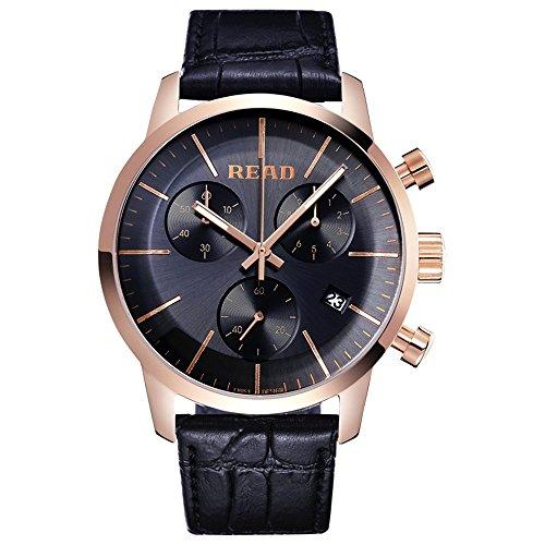 Lesen Fashion Quarz wasserabweisend Handgelenk Uhren Multi Funktion Uhren r7080