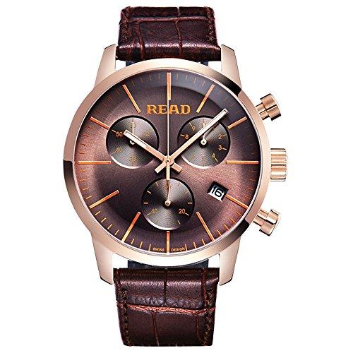 Lesen Fashion Quarz wasserabweisend Uhren Multi Funktion Handgelenk Uhren r7080