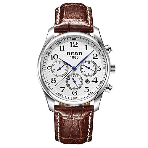 Lesen Multifunktions Sport Armbanduhr Mode Quarz Uhren wasserdicht Armbanduhr R6082