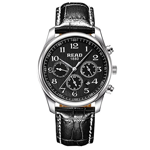 Lesen Herren Uhren Multifunktions Sportuhr wasserdicht Armbanduhr Mode Quarz Uhren R6082