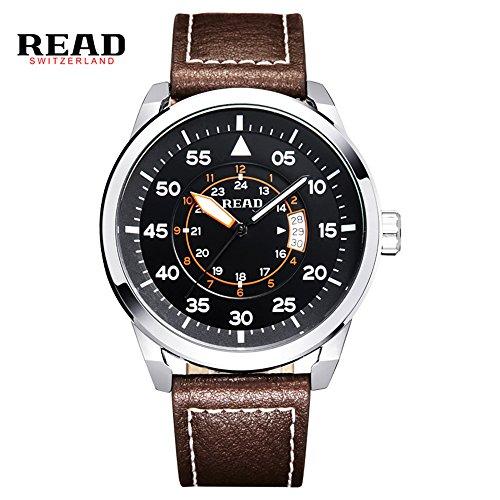 Lesen Neue 2016 Sports Uhren Qartz Wasserdicht Armbanduhr geschaeftsleuten hilft s Armbanduhr 2062