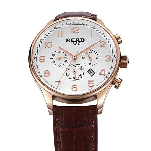 Lesen New Fashion Multifunktions Uhren Herren Armbanduhr wasserdicht Qartz Watch 6081
