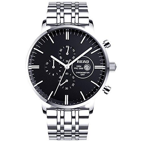 Lesen Neue Multifunktionale Uhren Herren Quarz Uhren Fashion wasserabweisend Armbanduhren R7006