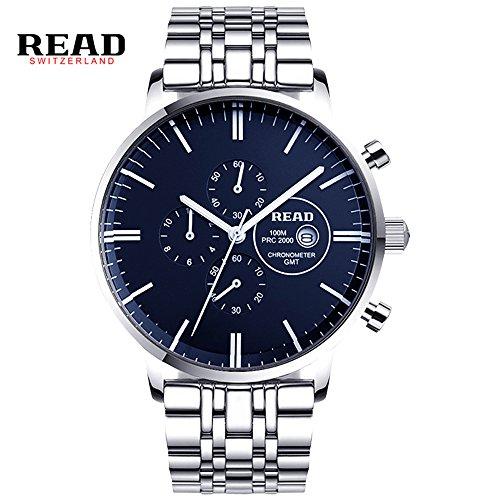 Lesen New Herren Quarz Uhren Multifunktions Uhren Fashion wasserabweisend Armbanduhren R7006