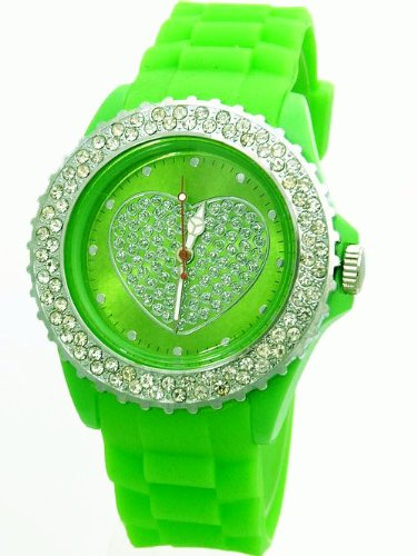 LOVE WATCH Armbanduhr Neon Gruen K225