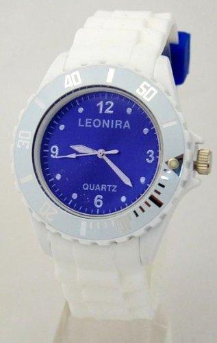 Nerd Leonira Uhr in Weiss Blau BU190