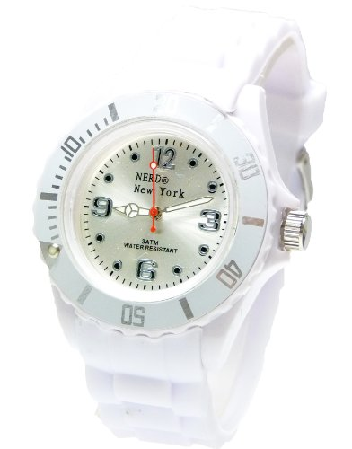 Nerd NEW YORK Uhr in Weiss BU277