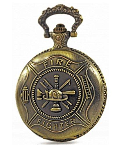 Bicolor Taschenuhr mit praezisem ETA Laufwerk Historische Lokomotive Uhr