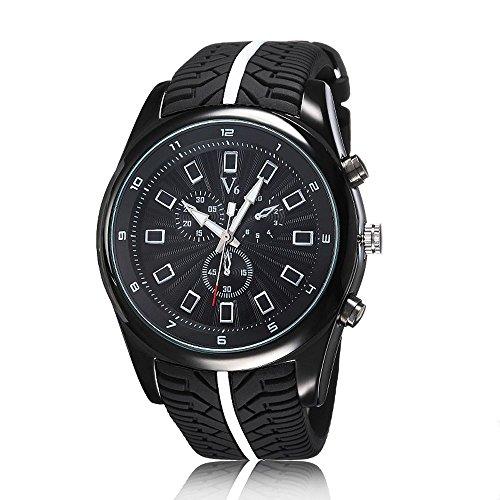 U125 sportliche in Chronograph Optik schwarz
