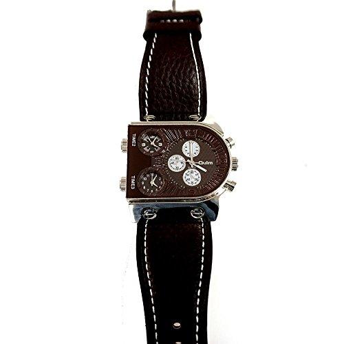 U129B Chronograph mit braunem Leder Armband